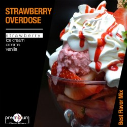 Premixum Strawberry Overdose - 10ml Mix Aroma